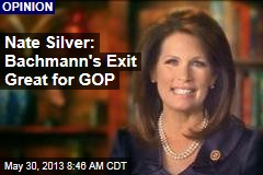 Nate Silver: Bachmann's Exit Great for GOP