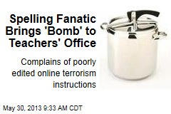 Spelling Fanatic Brings 'Bomb' to Teachers' Office