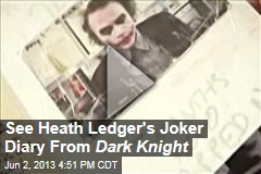 See Heath Ledger's Joker diary from Dark Knight