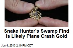 Snake Hunter's Swamp Find Is Likely Plane Crash Gold