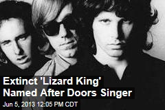 Extinct 'Lizard King' Named After Doors Singer