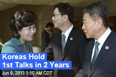 Koreas Hold 1st Talks in 2 Years