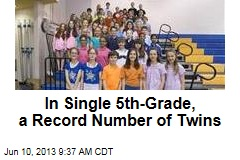 In Single 5th-Grade, a Record Number of Twins