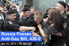 Russia Passes Anti-Gay Law, 436-0