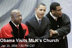 Obama Visits MLK's Church