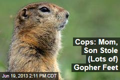 Cops: Mom, Son Stole (Lots of) Gopher Feet
