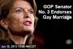 GOP Senator No. 3 Endorses Gay Marriage