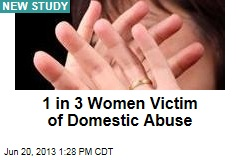 1 in 3 Women Victim of Domestic Abuse