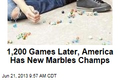 1,200 Games Later, America Has New Marbles Champs