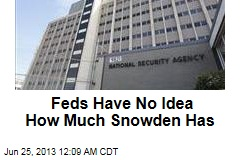 Feds Have No Idea How Much Snowden Has