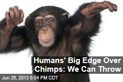 Humans' Big Edge Over Chimps: We Can Throw