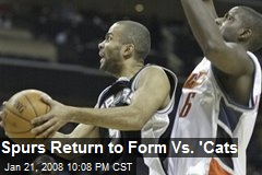 Spurs Return to Form Vs. 'Cats