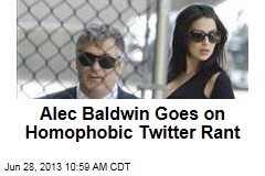 Alec Baldwin Goes on Homophobic Twitter Rant