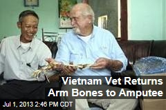 Vietnam Vet Returns Arm Bones to Amputee