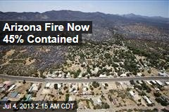 Arizona Fire Now 45% Contained