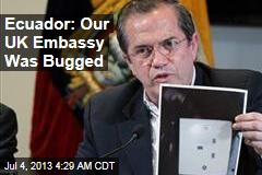 Ecuador: Our UK Embassy Was Bugged