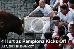 4 Hurt as Pamplona Kicks Off