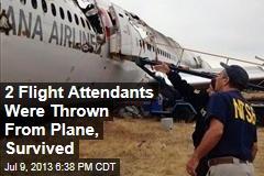 2 Flight Attendants Were Thrown From Plane, Survived