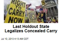 Last Holdout State Legalizes Concealed Carry