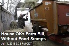 House OKs Farm Bill, Without Food Stamps
