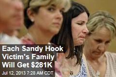 Each Sandy Hook Victim's Family Will Get $281K
