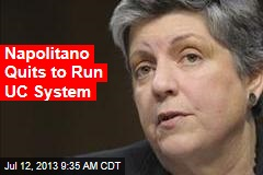 Napolitano Quits to Run UC System