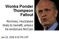 Wonks Ponder Thompson Fallout