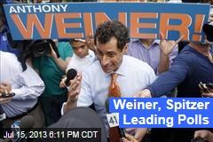 Weiner, Spitzer Leading Polls