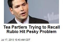 Tea Partiers Trying to Recall Rubio Hit Pesky Problem