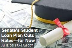 Senate's Student Loan Plan Cuts Rates—for Now