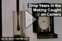 Drop Years In the Making Caught on Camera