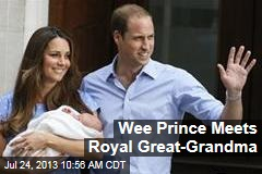 Wee Prince Meets Royal Great-Grandma