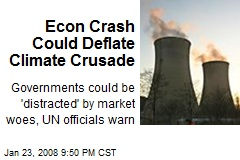 Econ Crash Could Deflate Climate Crusade