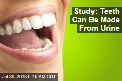Study: Teeth Can Be Made From Urine