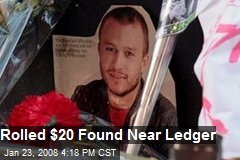 Rolled $20 Found Near Ledger