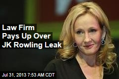 Law Firm Pays Up for JK Rowling Leak