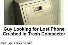 Guy Looking for Lost Phone Crushed in Trash Compactor