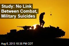 Study: No Link Between Combat, Military Suicides