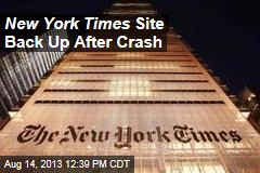 New York Times Website Goes Down