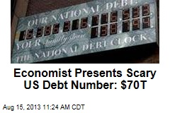 Economist Presents Scary US Debt Number: $70T