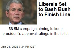 Liberals Set to Bash Bush to Finish Line