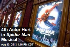 4th Actor Hurt in Spider-Man Musical