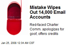 Mistake Wipes Out 14,000 Email Accounts