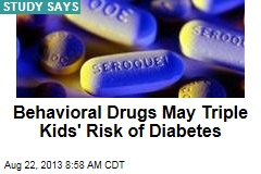 Behavioral Drugs May Triple Kids' Risk of Diabetes