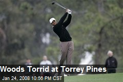 Woods Torrid at Torrey Pines