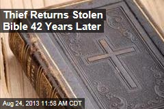 Thief Returns Stolen Bible 42 Years Later