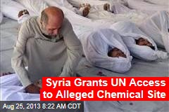 Syria Grants UN Access to Alleged Chemical Site