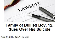 Family of Bullied Boy, 12, Sues Over His Suicide