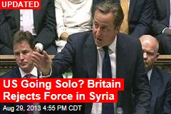British Parliament Rejects Use of Force in Syria