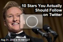 10 Stars You Actually Should Follow on Twitter